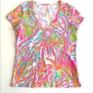 Lilly Pulitzer Michelle tee in Scuba to Cuba